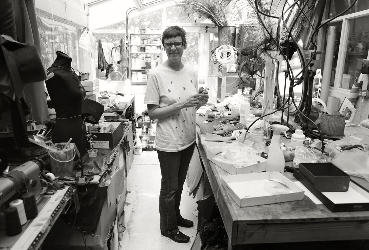 Bridget Bailey in her studio